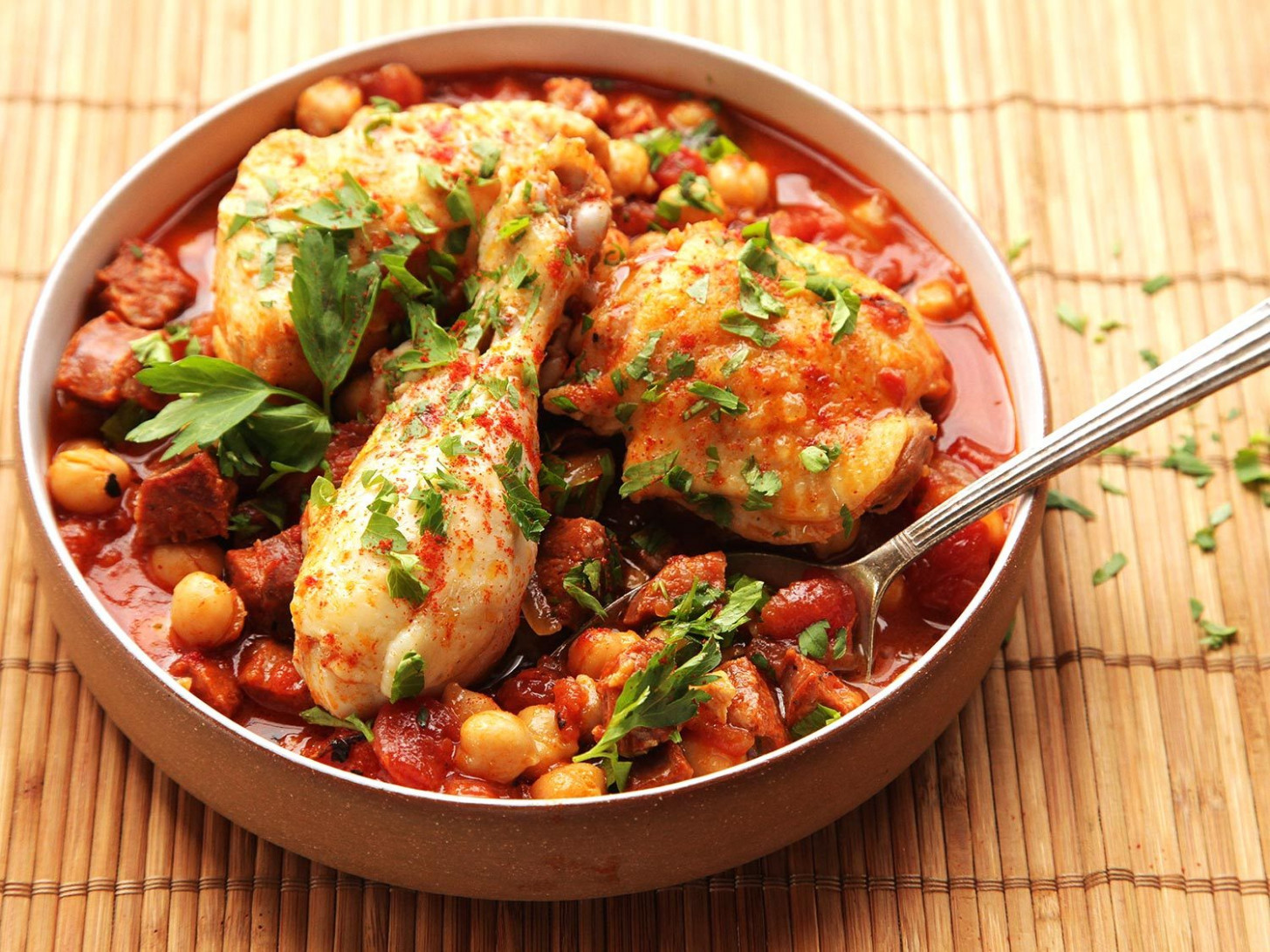 13 Minute Pressure Cooker Chicken With Chickpeas, Tomatoes, And Chorizo  Recipe - Recipes Electric Pressure Cooker Chicken
