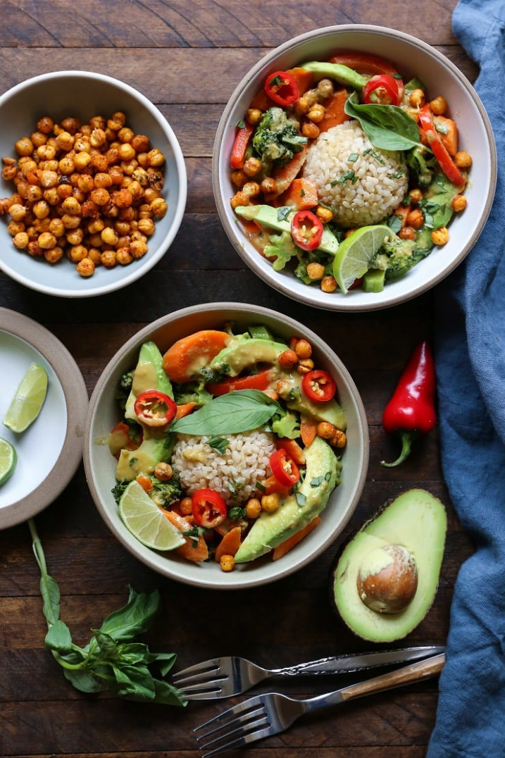 13 Minute Thai Green Curry With Avocado - Recipes With Avocado Vegetarian