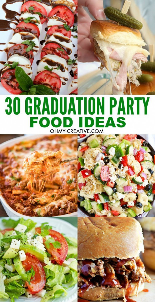 13 Must Make Graduation Party Food Ideas - Oh My Creative - party food recipes