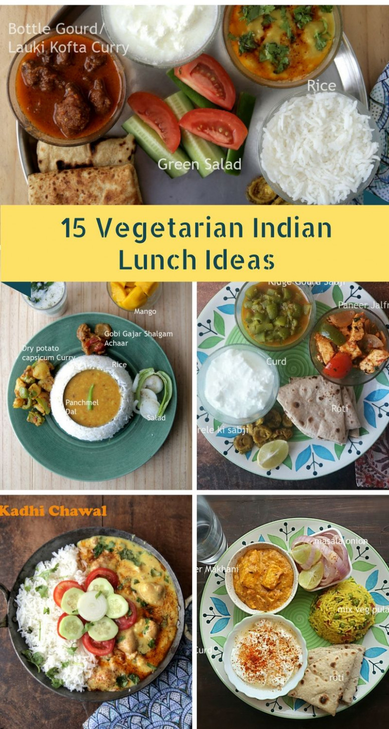 13 Vegetarian Indian Lunch Ideas | Lunch recipes indian ..