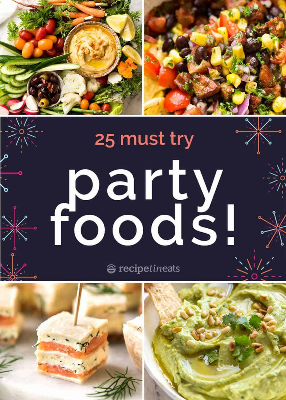 14 BEST Party Food Recipes! - recipes dinner with friends