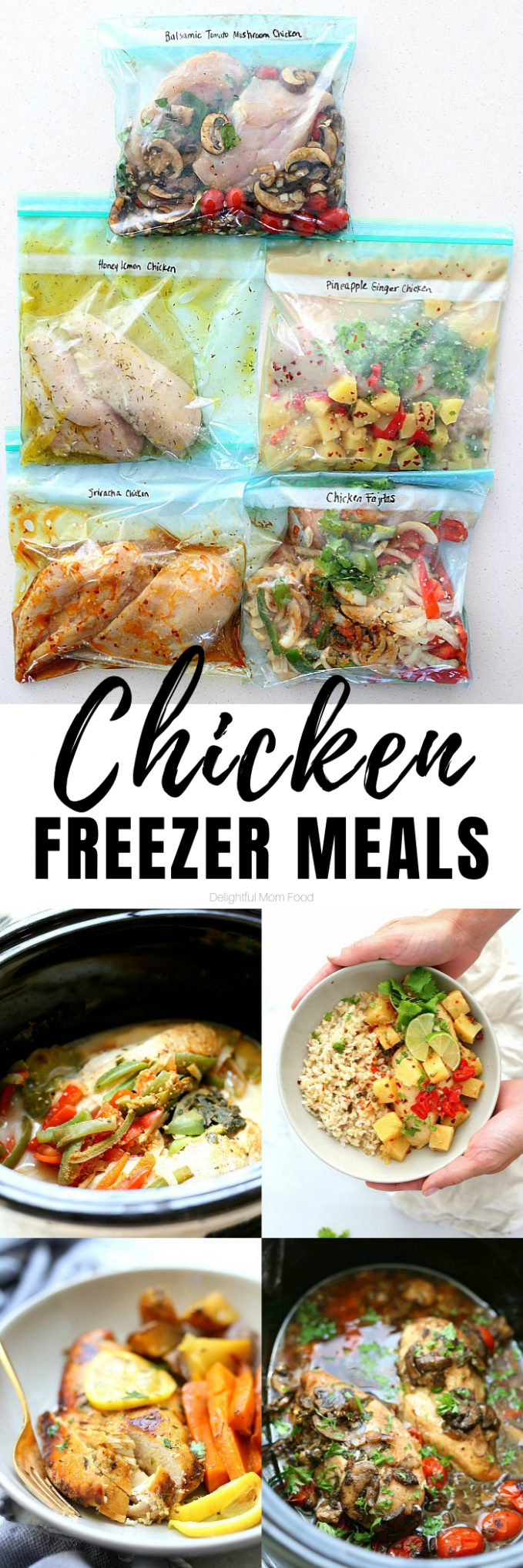 14 Chicken Freezer Meals: Easy Meal Prep | Delightful Mom Food - recipes to eat healthy