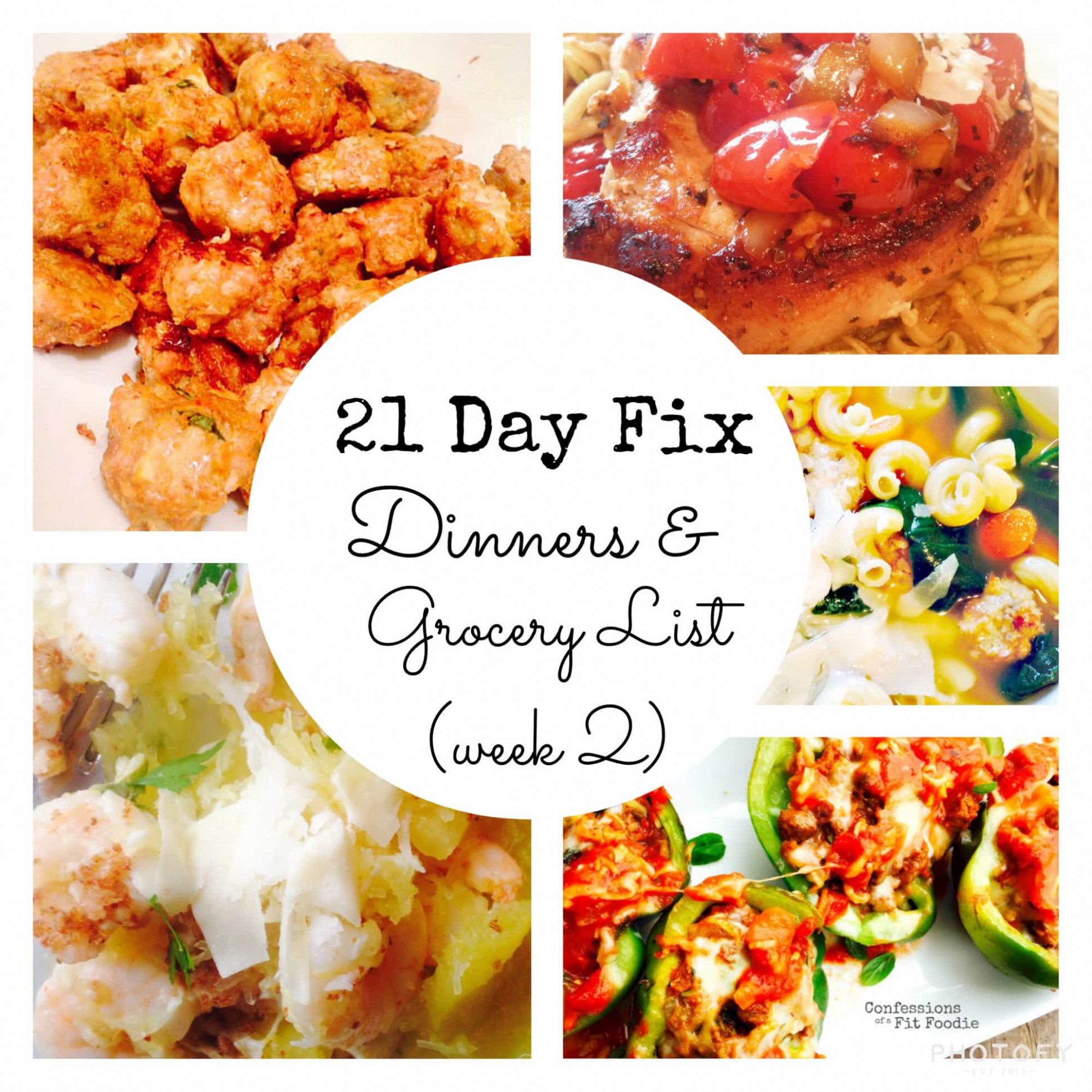 14 Day Fix Meal Plan & Grocery List 14 Make Ahead Dinners | 14 Day Fix - recipes dinner this week
