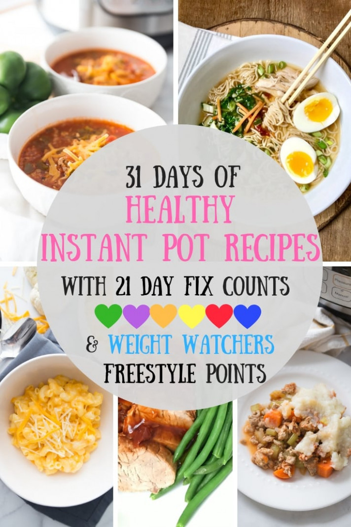 14 Days of Healthy Instant Pot Recipes [14 Day Fix | Weight ..