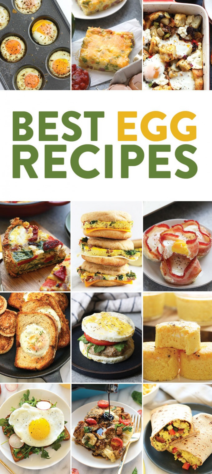14 Egg Recipes for Breakfast - Fit Foodie Finds - healthy recipes eggs