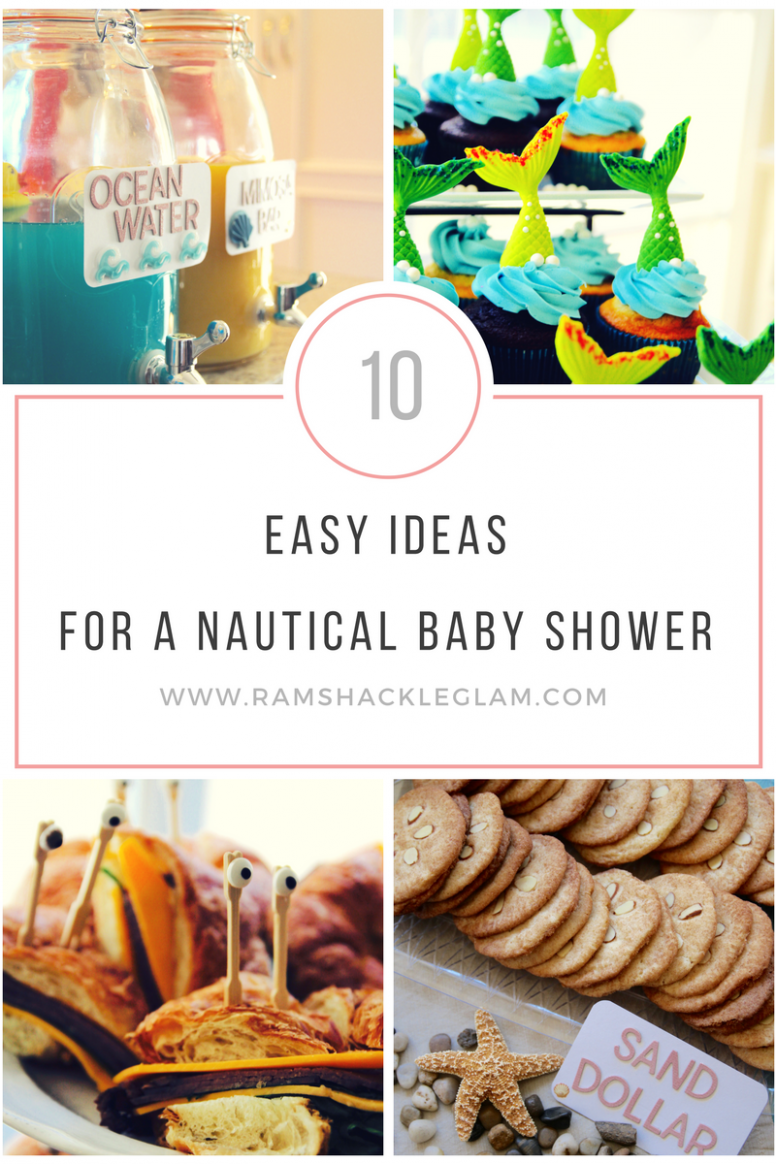 14 Ideas For A Nautical Themed Baby Shower – Ramshackle Glam - Ocean Themed Food Recipes
