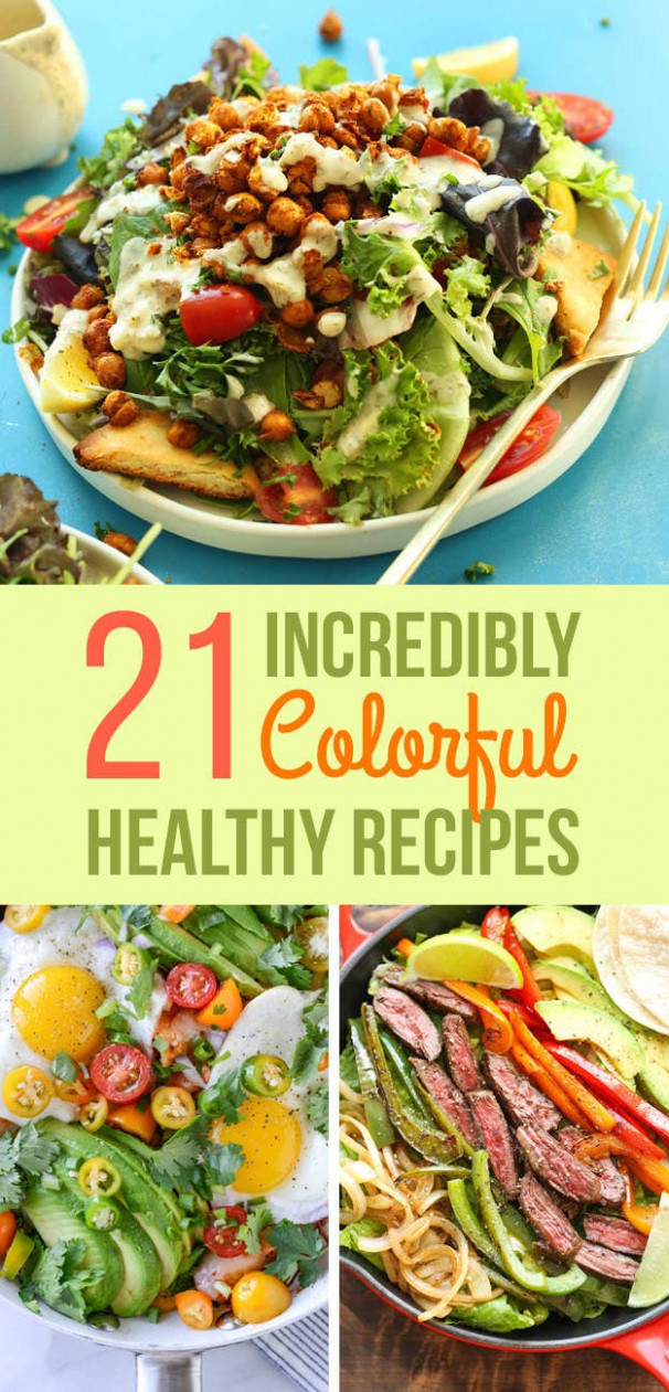14 Insanely Colorful Meals That Are Healthy AF - Healthy Recipes Meals