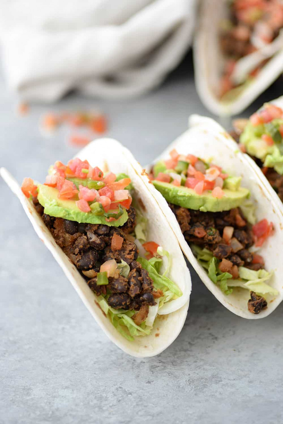 14 Minute Vegan Black Bean Tacos - recipe vegetarian tacos filling
