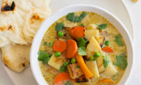 14 Minute Vegetable Green Curry – Recipe Vegetarian Thai Green Curry