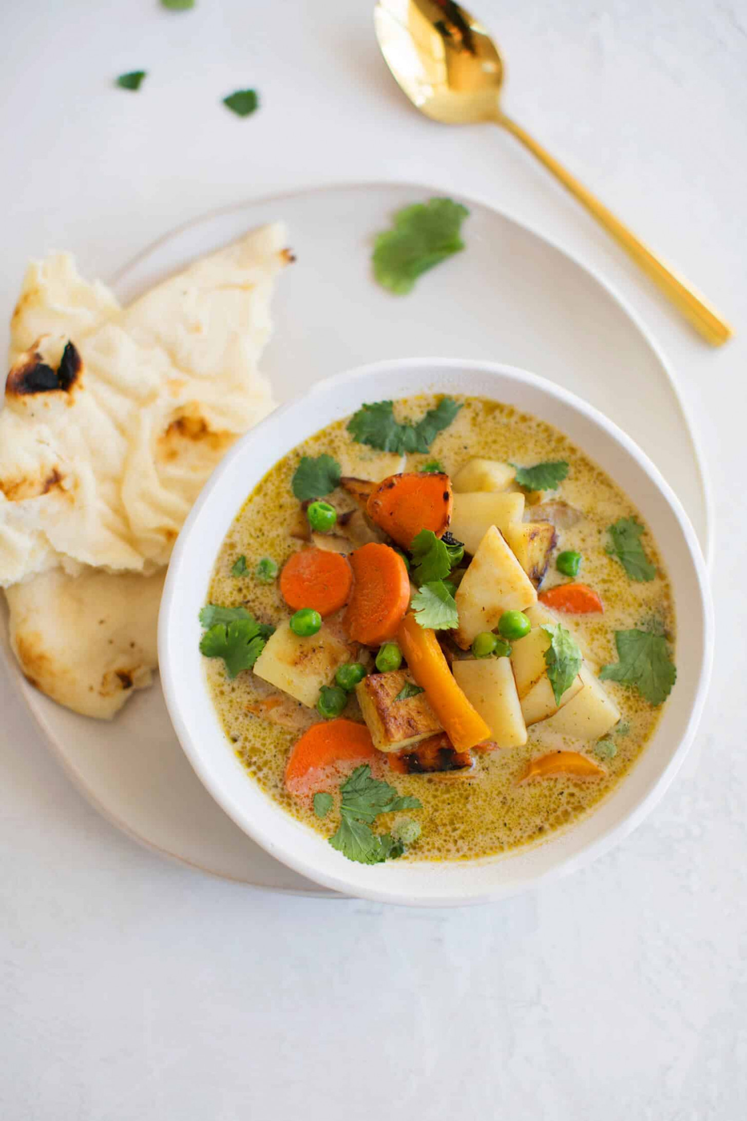 14 Minute Vegetable Green Curry - Recipe Vegetarian Thai Green Curry