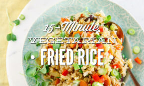 14 Minute Vegetarian Fried Rice – Recipe Vegetarian Fried Rice