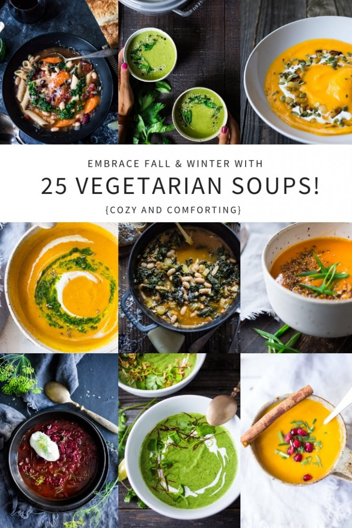 14 Mouthwatering VEGETARIAN Soups Recipes for FALL! - easy soup recipes vegetarian