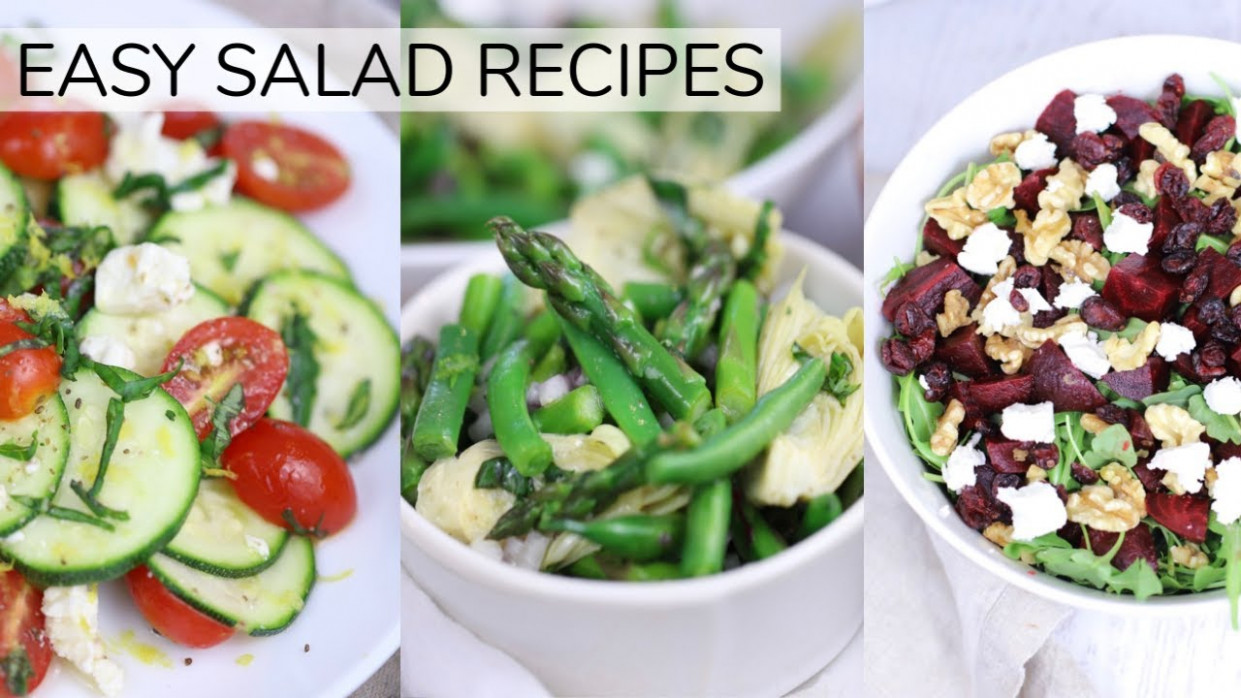 14 *NEW* EASY HEALTHY SALAD RECIPES | Clean Eating Recipes - Healthy Steps Nutrition Recipes