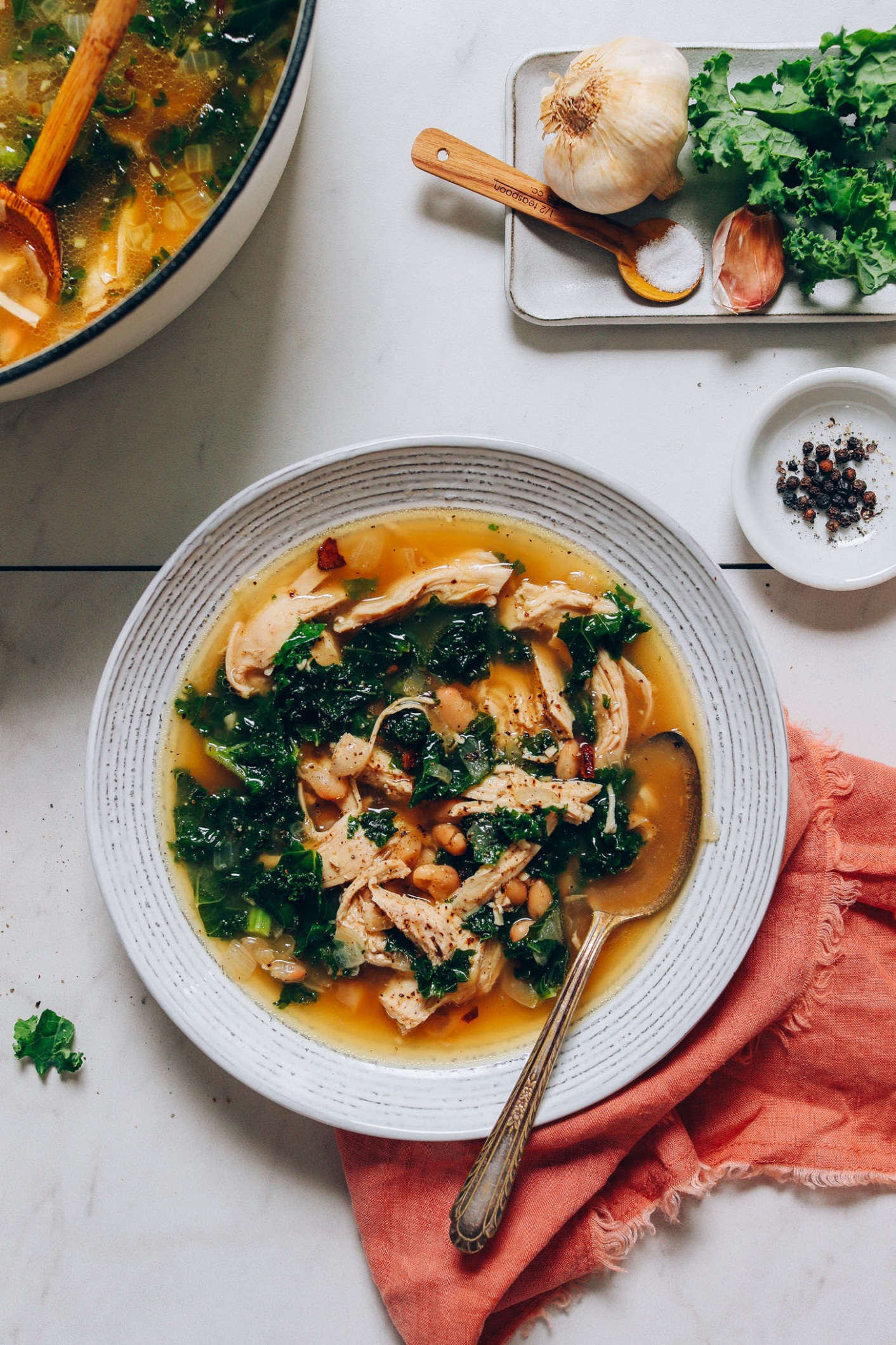14-Pot Chicken Soup with White Beans & Kale - chicken recipes gluten free