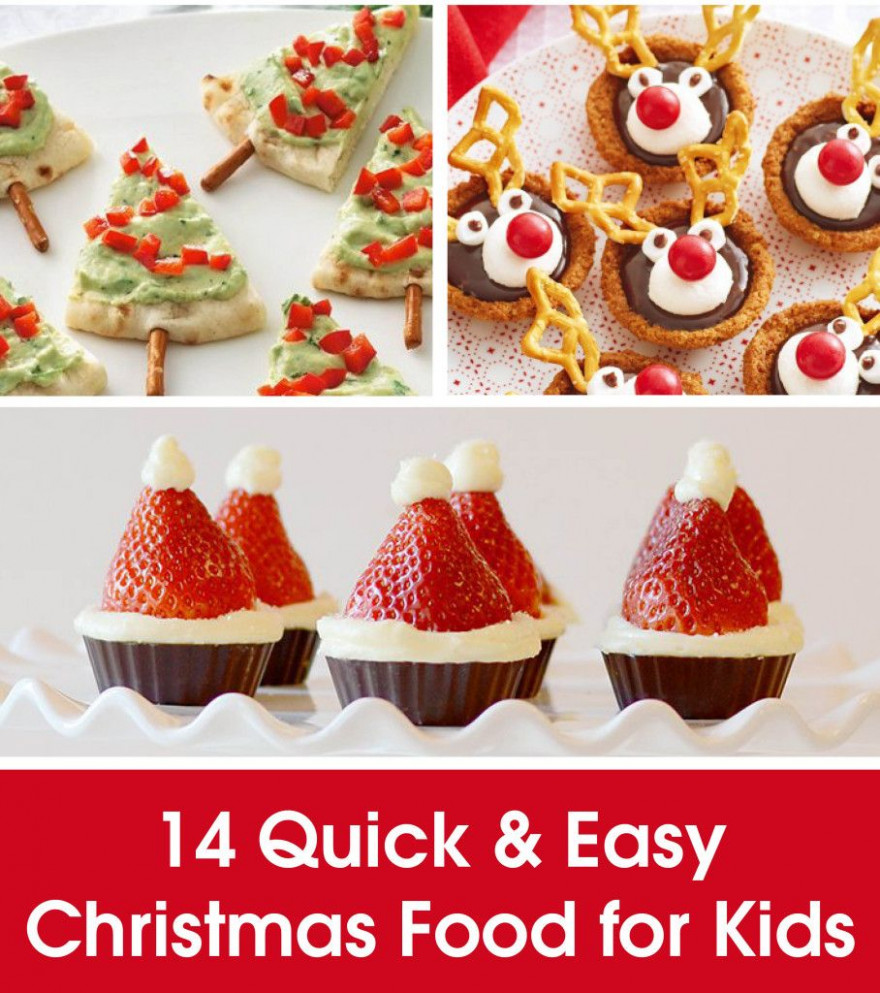 14 QUICK & EASY CHRISTMAS FOOD FOR KIDS | dessert ideas ..