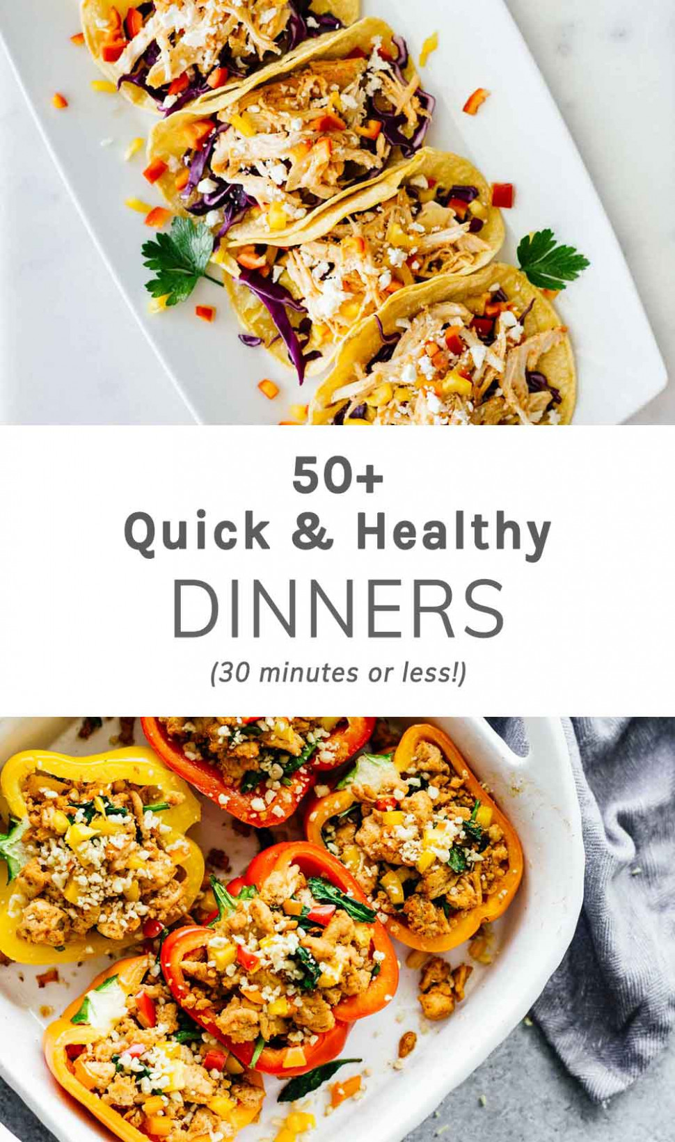 14+ Quick Healthy Dinners (14 Minutes Or Less) - Jar Of Lemons - healthy recipes for dinner