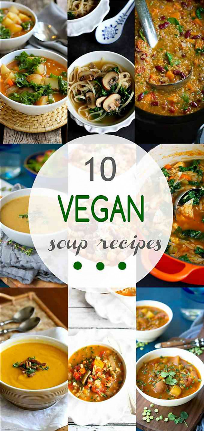 14 Vegan Soup Recipes - Cookin Canuck - Healthy Recipes - Easy Soup Recipes Vegetarian