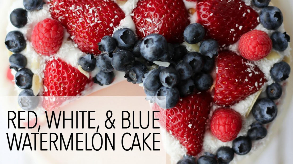 14th of July Vegan Dessert Recipes - Watermelon Cake and Berry Coconut  Parfaits - vegetarian fourth of july recipes