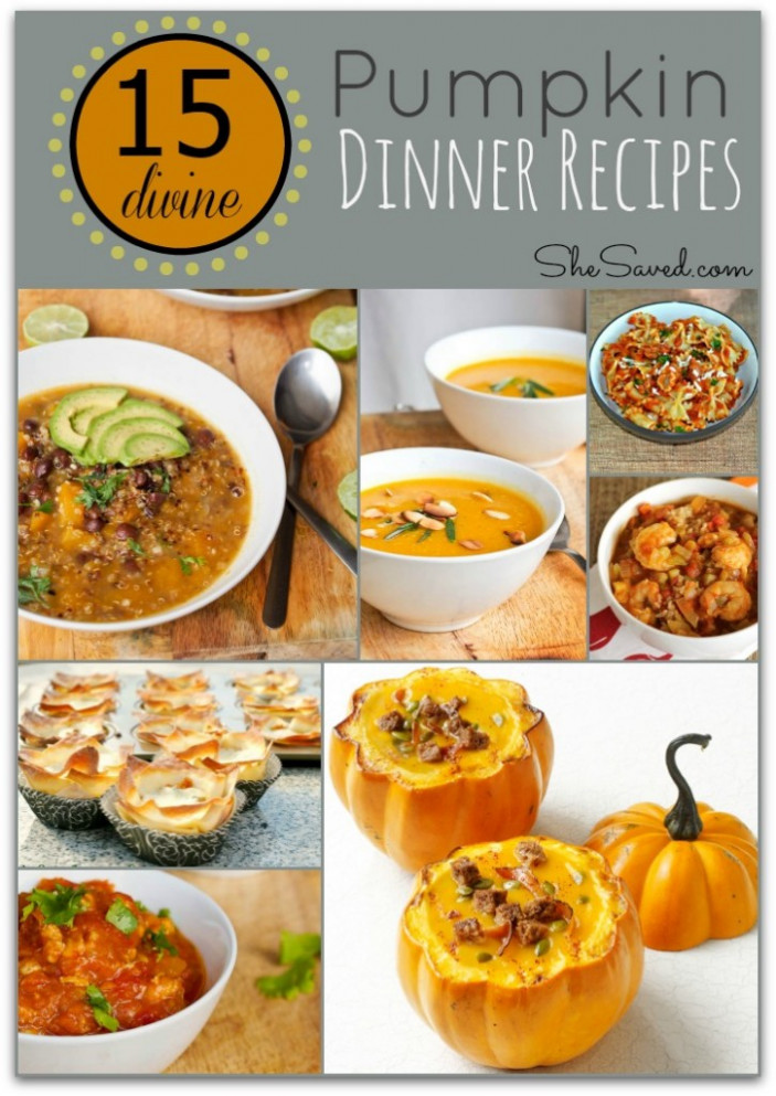 15 Divine Pumpkin Dinner Recipes - SheSaved® - pumpkin recipes dinner