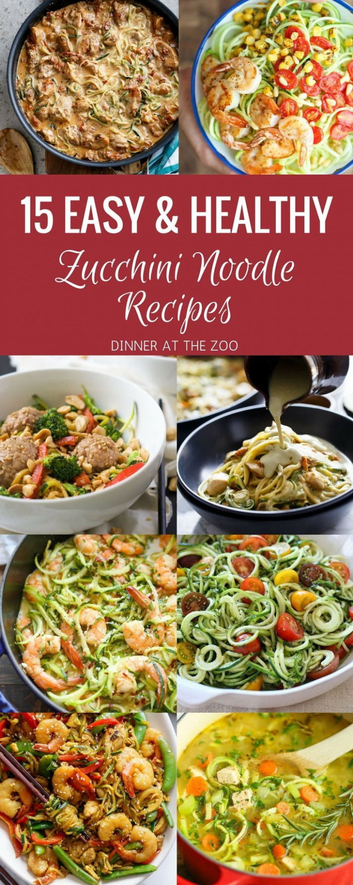 15 Easy & Healthy Zoodle (Zucchini Noodle) Recipes ..
