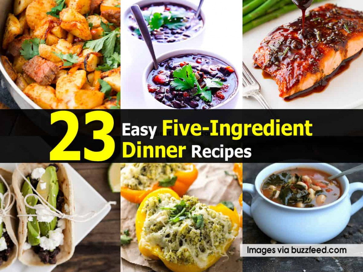15 Easy Five-Ingredient Dinner Recipes - dinner recipes buzzfeed