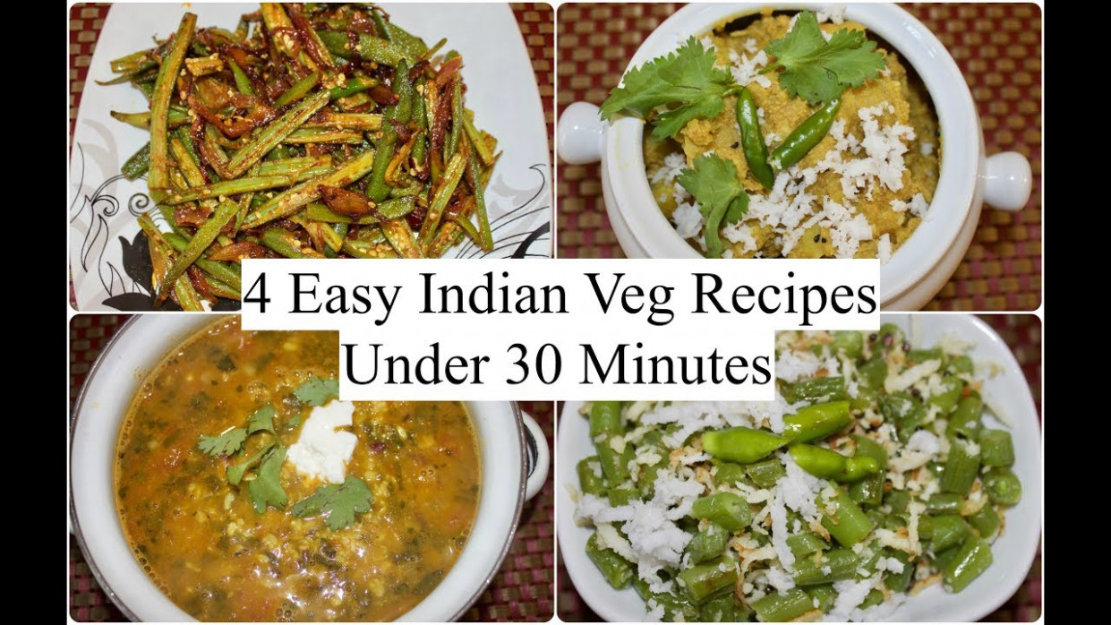 15 Easy Indian Veg Recipes Under 15 Minutes | 15 Quick Dinner Ideas | Simple  Living Wise Thinking - Dinner Recipes Easy Indian