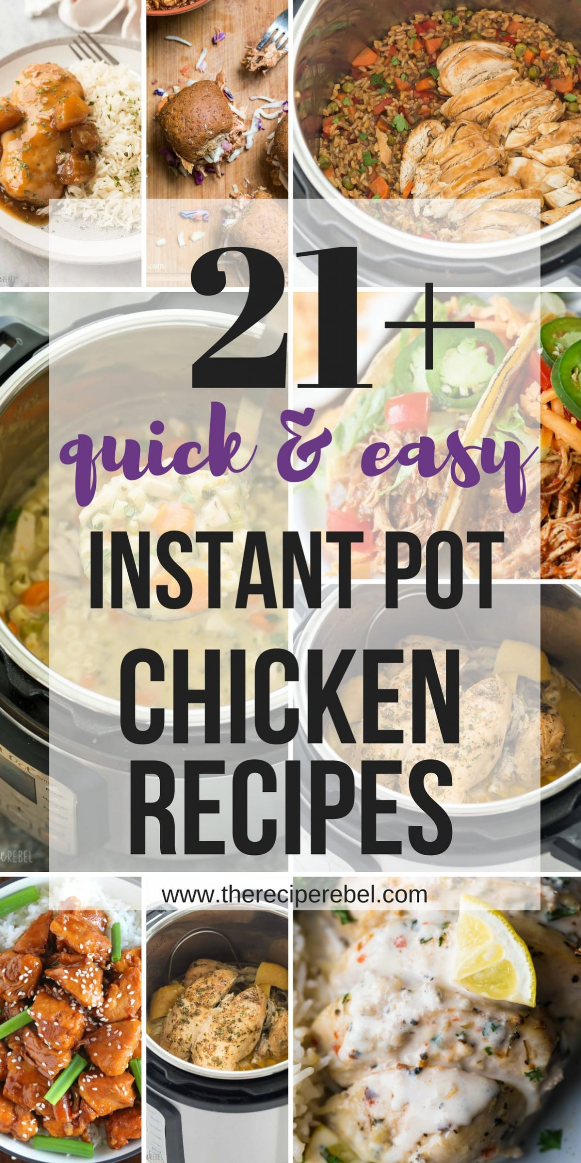 15+ Easy Instant Pot Chicken Recipes (pressure cooker ..