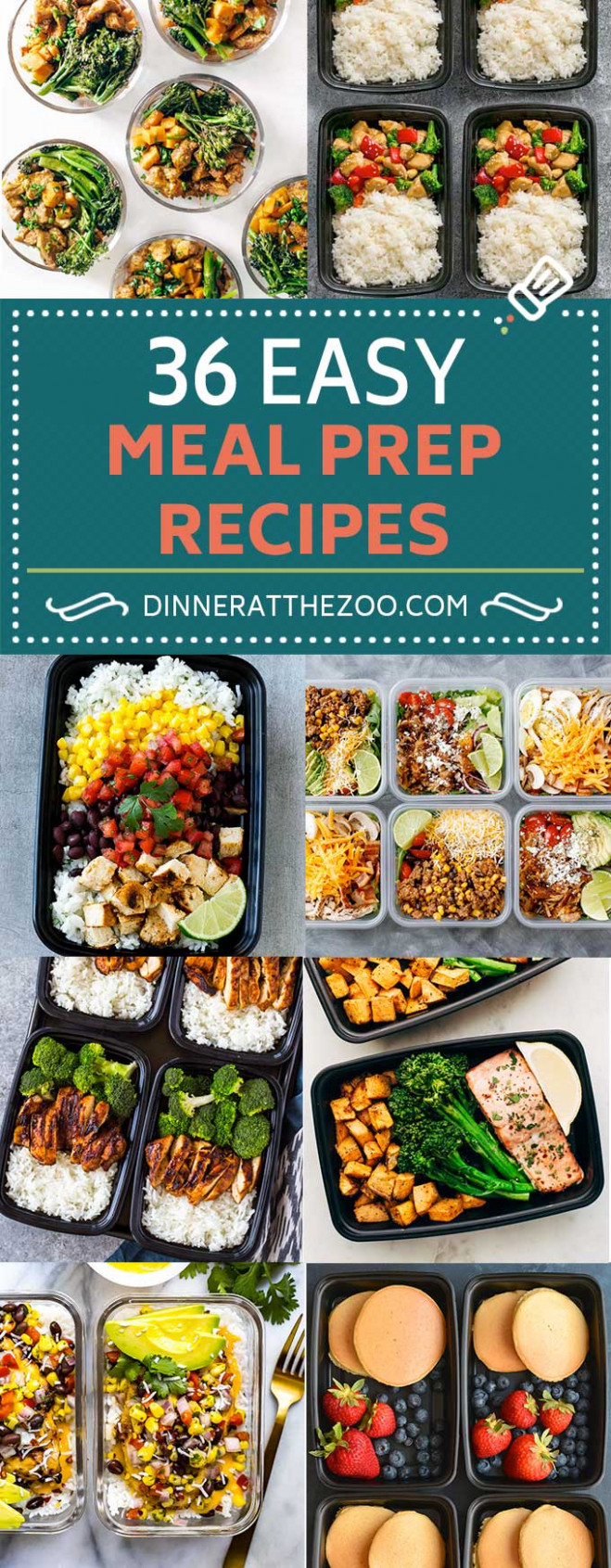 15 Easy Meal Prep Recipes - Dinner at the Zoo - dinner recipes meal prep