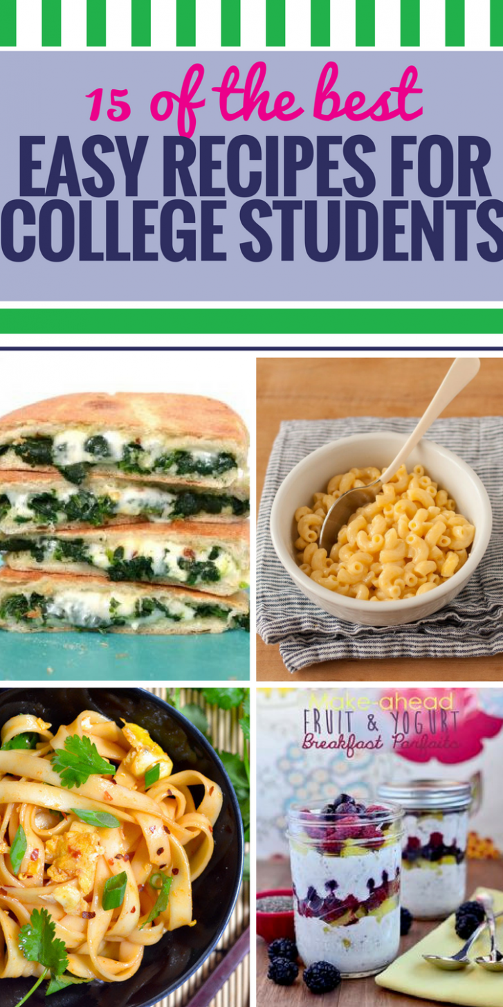 15 Easy Recipes For College Students - My Life And Kids - Healthy Recipes College Students