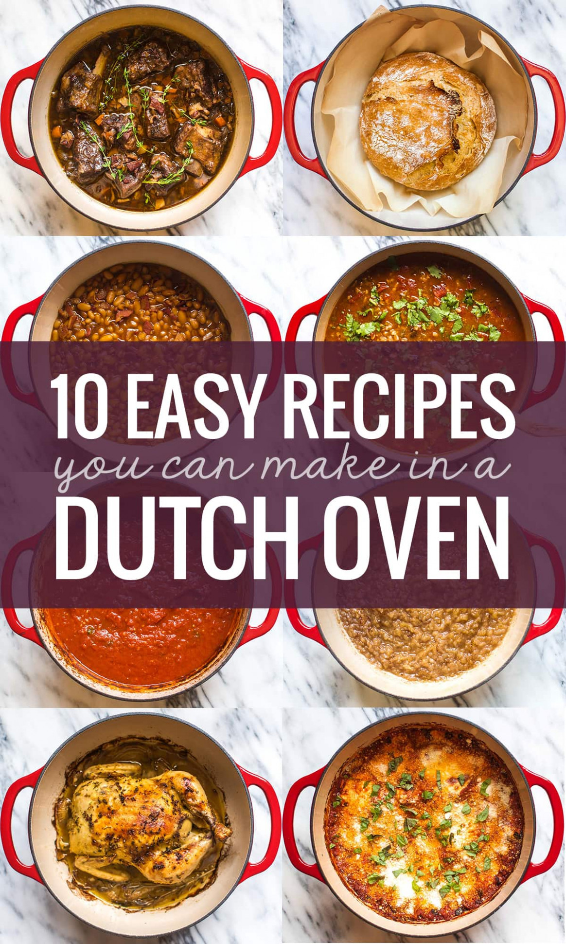 15 Easy Recipes You Can Make in a Dutch Oven - Pinch of Yum - dinner recipes top rated