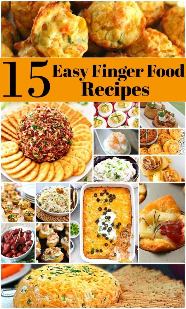 15 Easy To Make Finger Food Recipes | Potluck finger foods ..