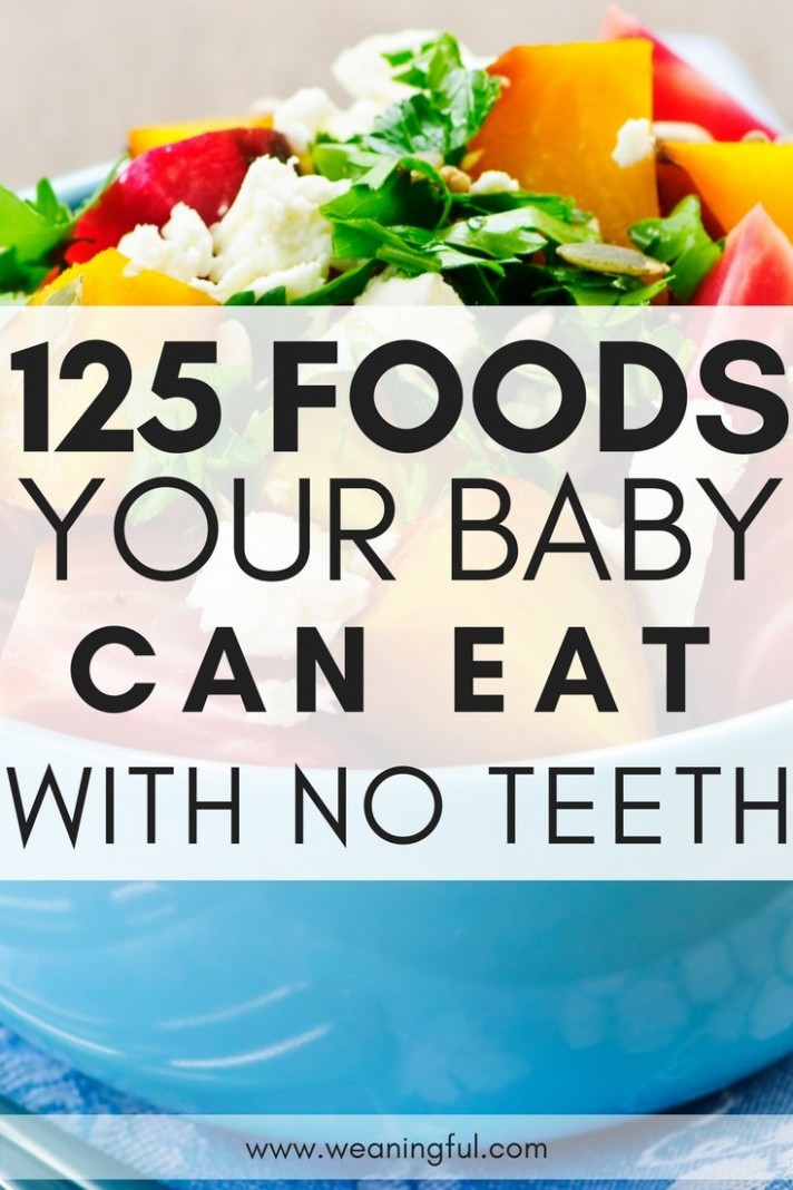 15 first foods for babies with no teeth - What to feed baby ..