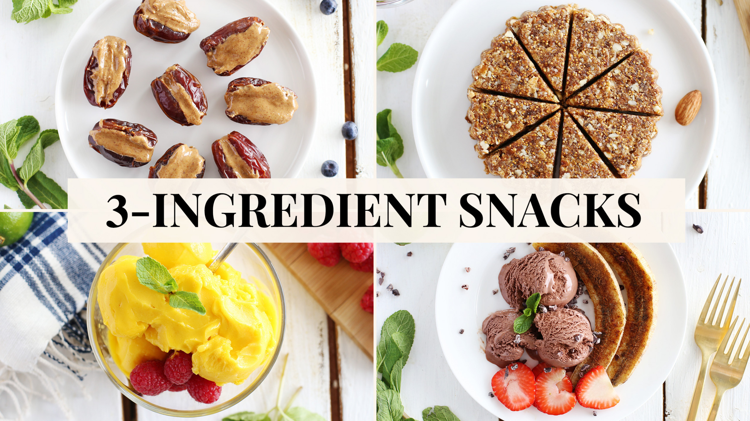 15 Healthy 15 Ingredient Snacks - Recipes For Healthy Snacks