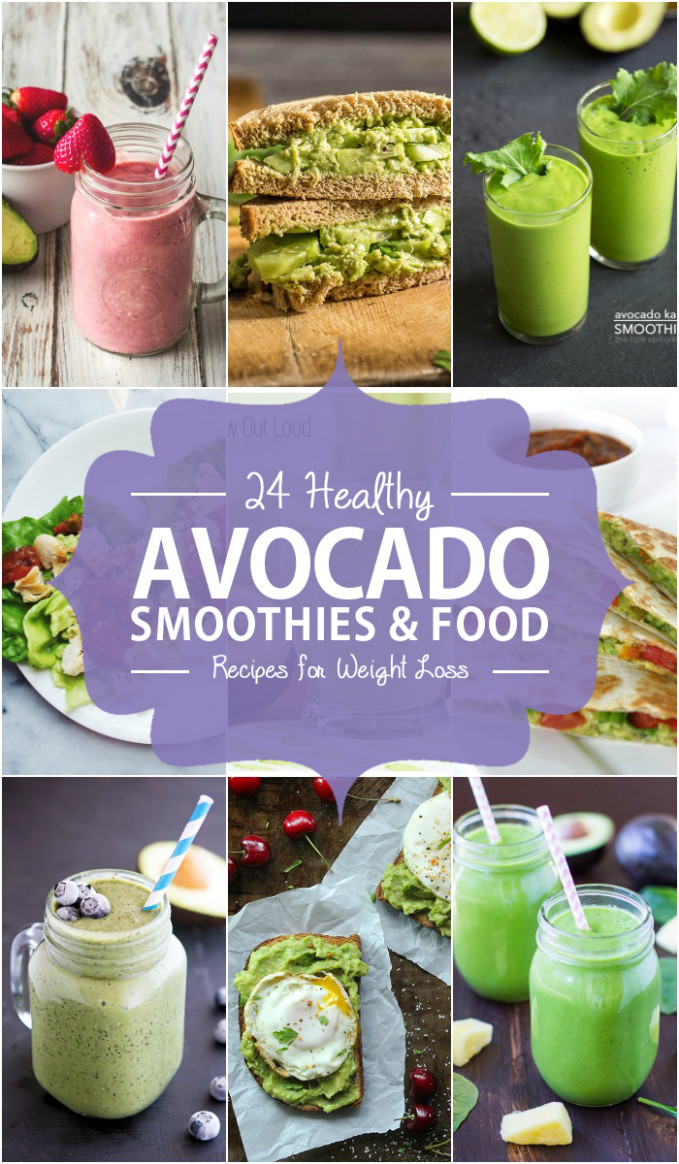 15 Healthy Avocado Smoothies and Food Recipes for Weight Loss - healthy food recipes to lose weight