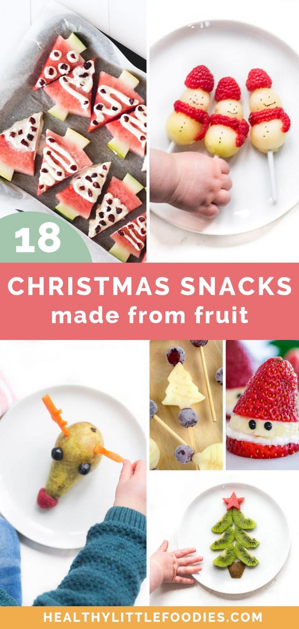 15 Healthy Christmas Snacks for Kids - Healthy Litttle Foodies - healthy xmas baking recipes