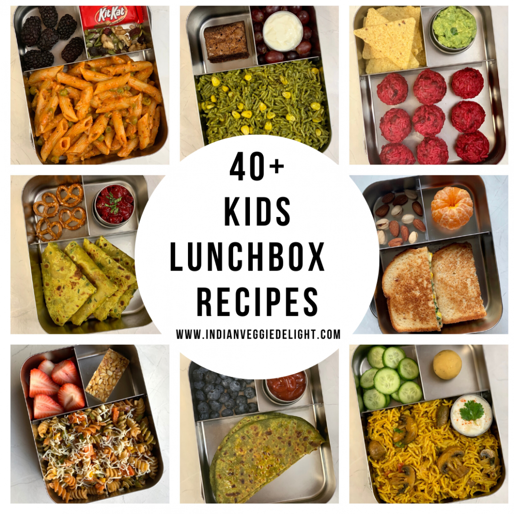 15+ Healthy Kids Lunch Box Recipes - Indian Veggie Delight - kid friendly indian food recipes