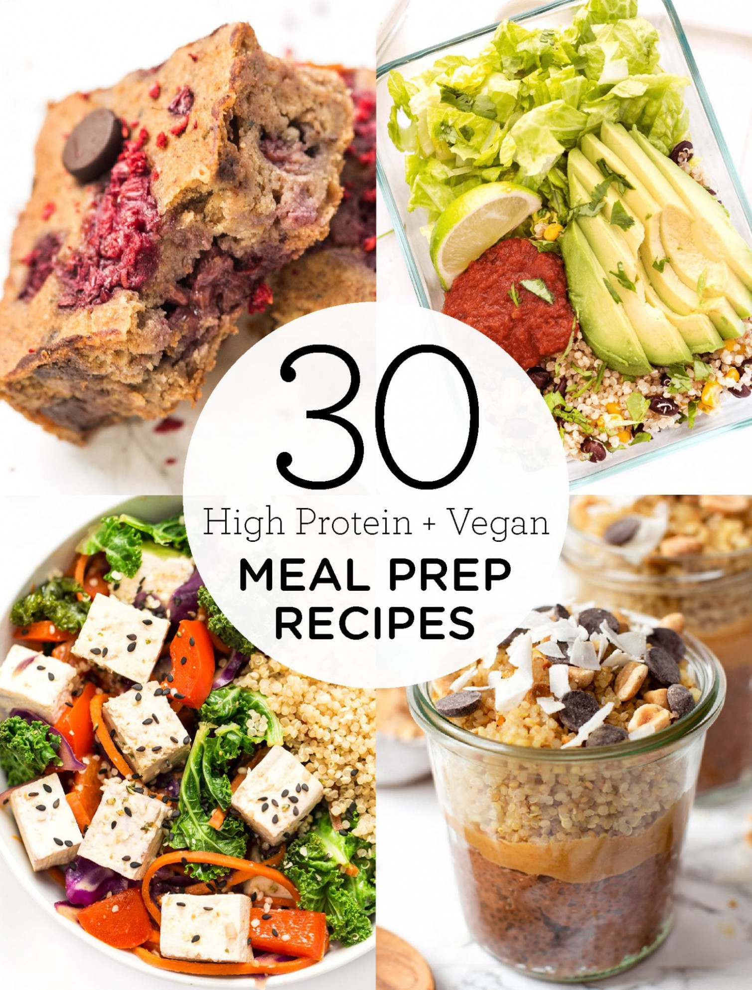 15 High Protein Vegan Meal Prep Recipes - Simply Quinoa - recipes vegetarian meal prep