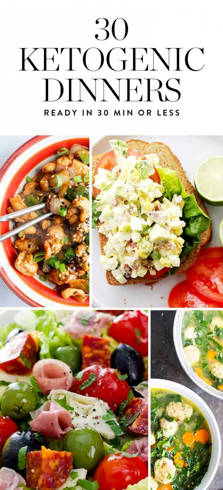 15 Ketogenic Dinner Recipes You Can Make in 15 Minutes or ..