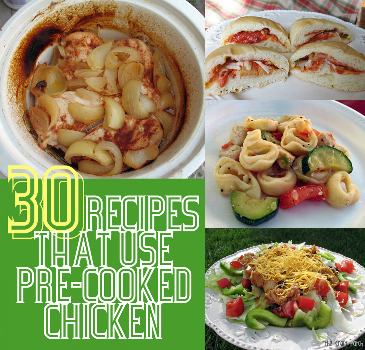 15 Leftover Chicken Recipes - The Craft Patch - chicken recipes using cooked chicken