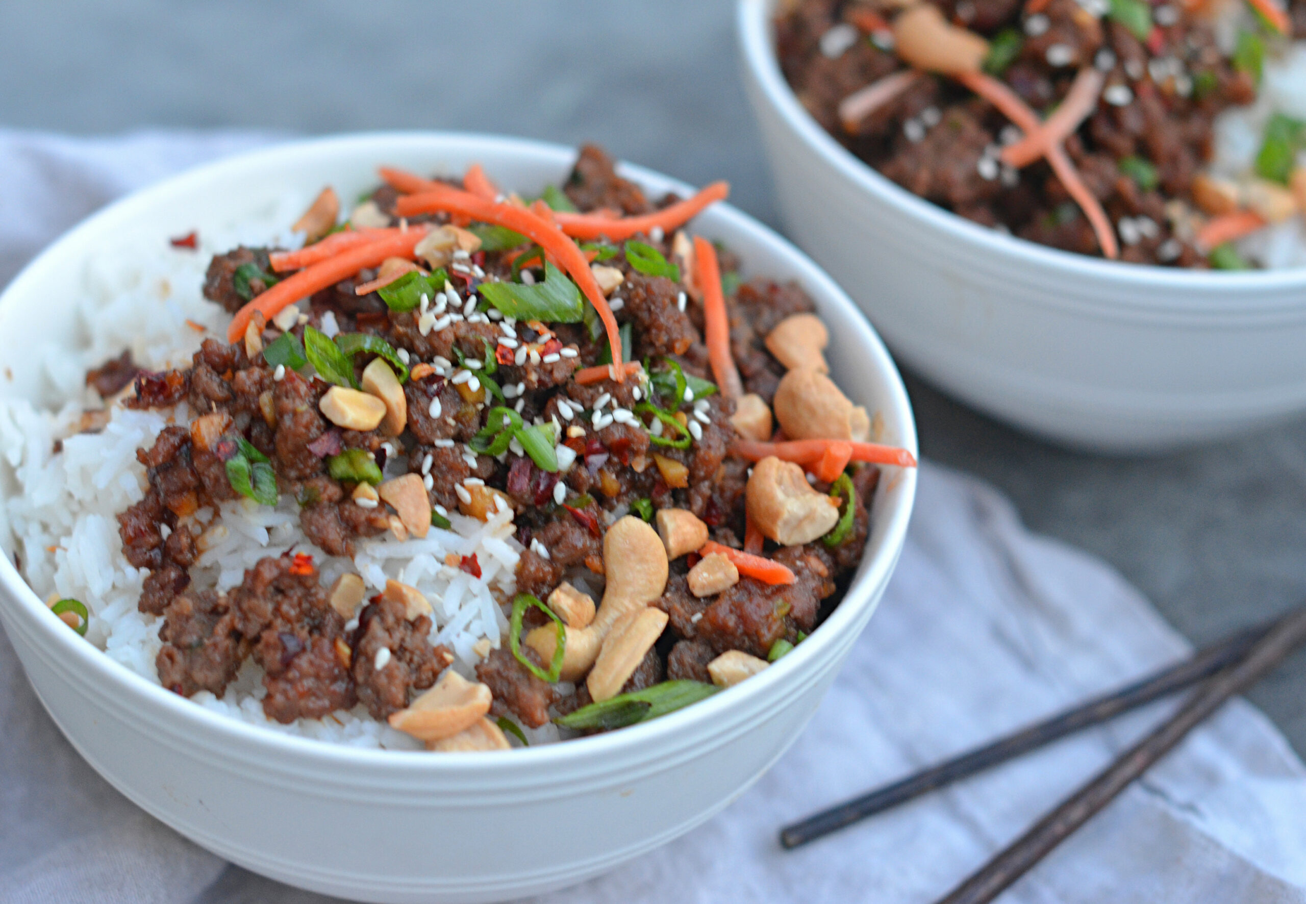 15-Minute Asian Beef Bowls - food recipes asian
