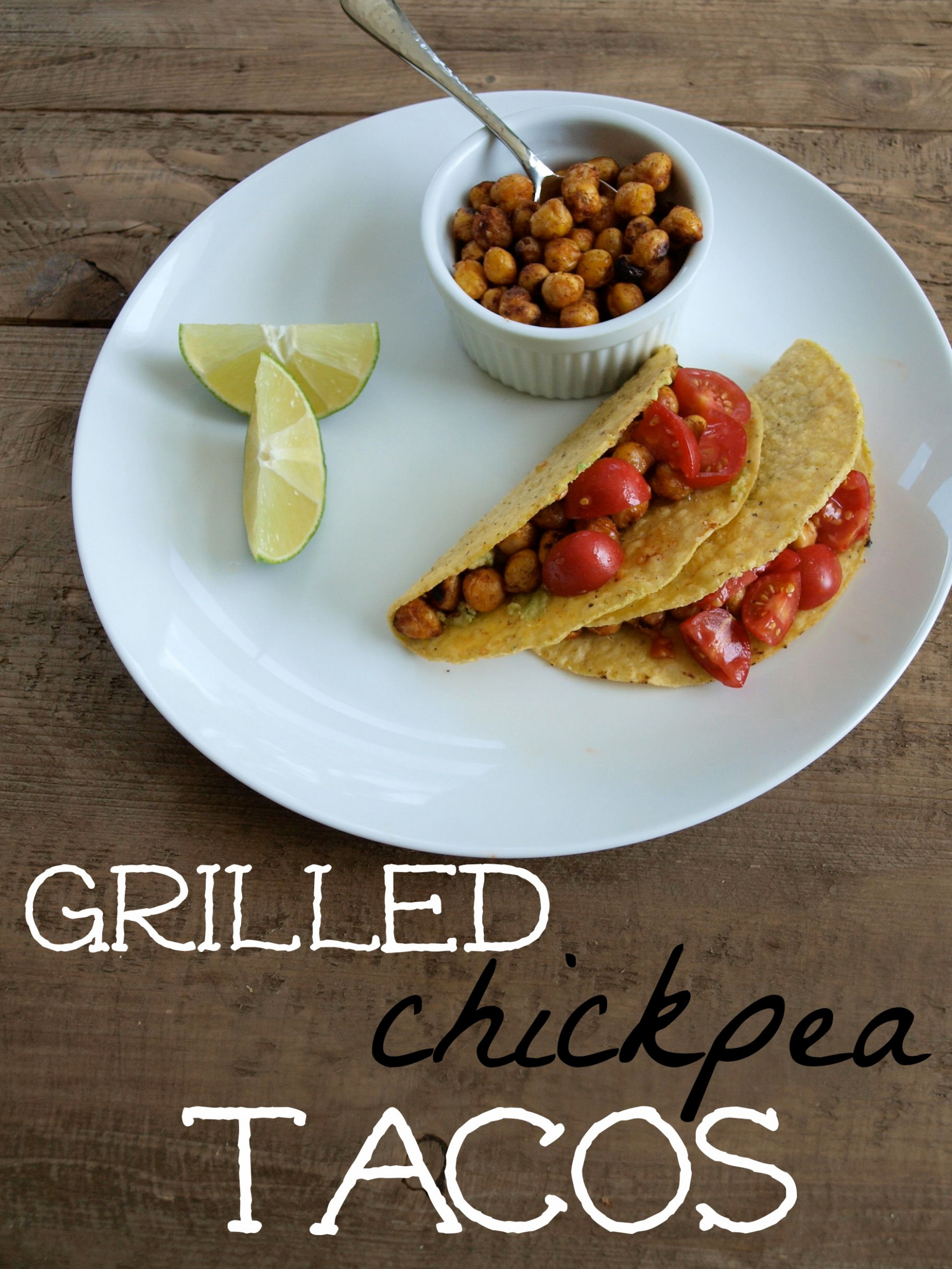 15 minute grilled chickpea tacos - Happy Healthy Mama - vegetarian recipes on the grill