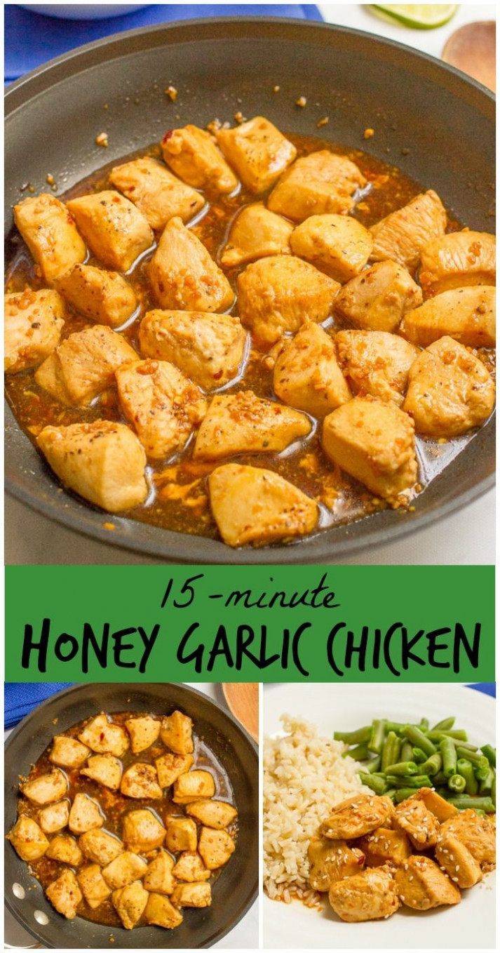 15 Minute Honey Garlic Chicken | Recipe | Kitchen And Food ..