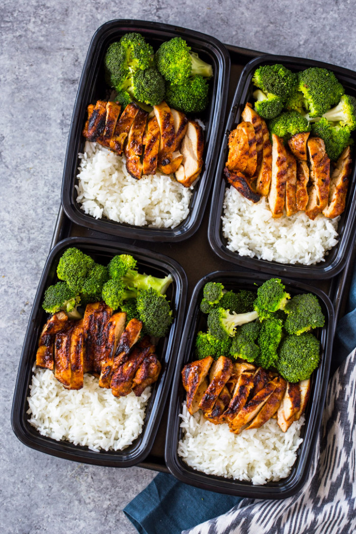 15 Minute Meal-Prep Chicken, Rice, and Broccoli - dinner recipes meal prep