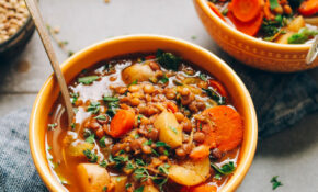 15 Pot Everyday Lentil Soup – Vegetable Soup Recipes Vegetarian