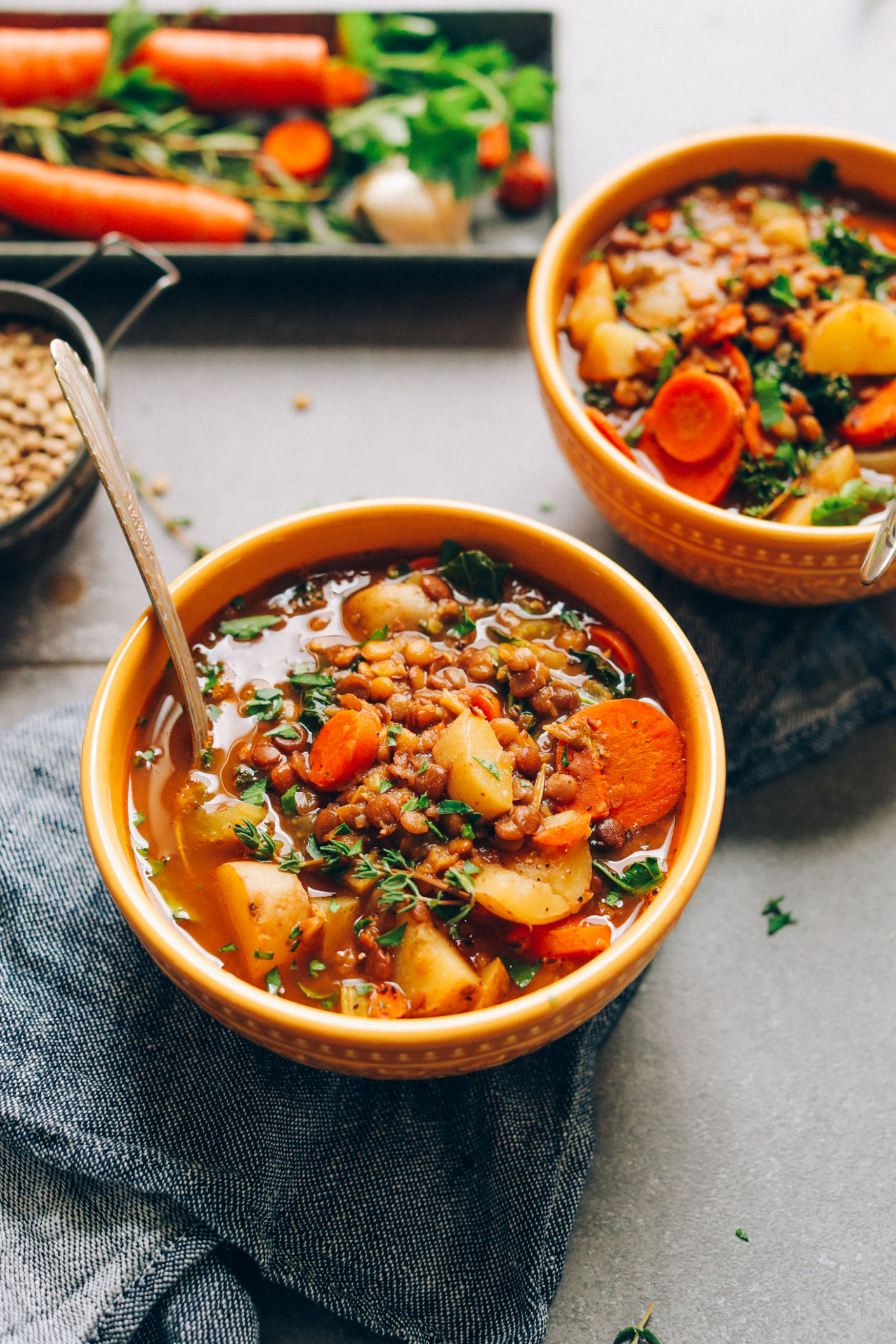15-Pot Everyday Lentil Soup - vegetable soup recipes vegetarian