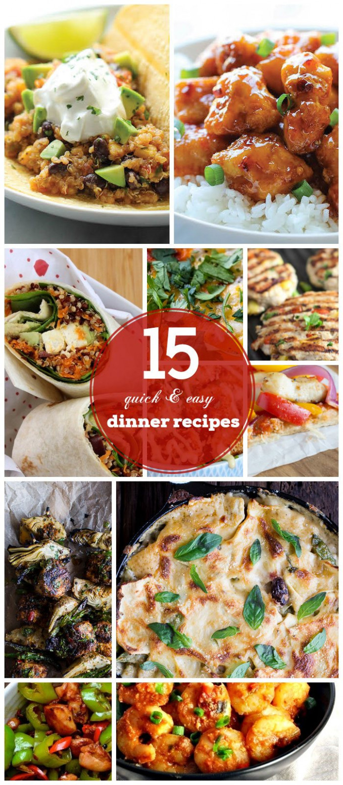 15 Quick & Easy Dinner Recipes for Family - quick easy recipes dinner