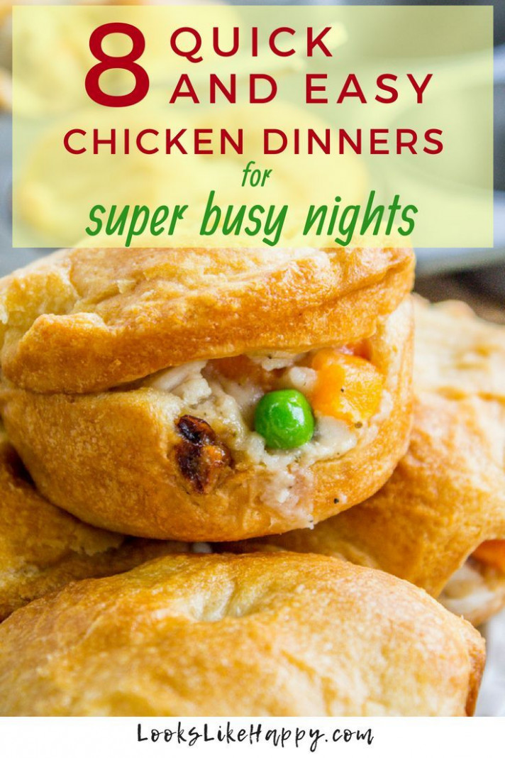 15 Quick And Easy Chicken Dinner Recipes For Busy Nights ..