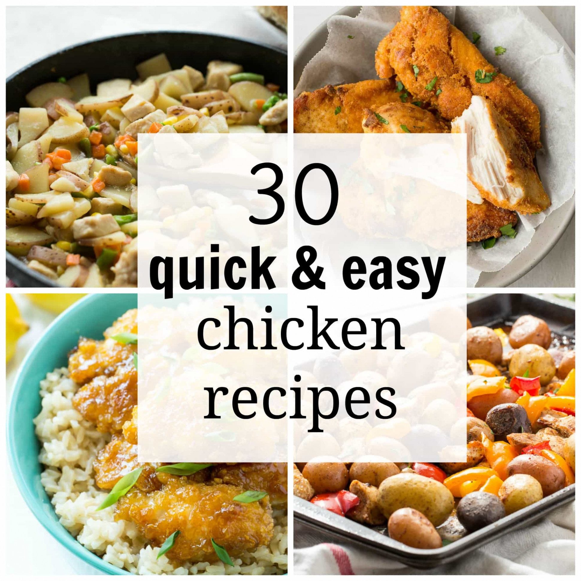 15 Quick and Easy Chicken Recipes for Busy Weeknights - chicken recipes quick and easy for dinner