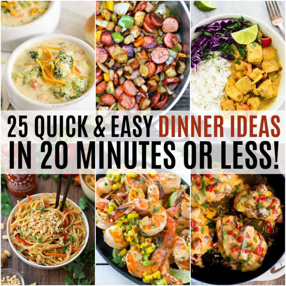 15 Quick and Easy Dinner Ideas in 15 Minutes or Less ..