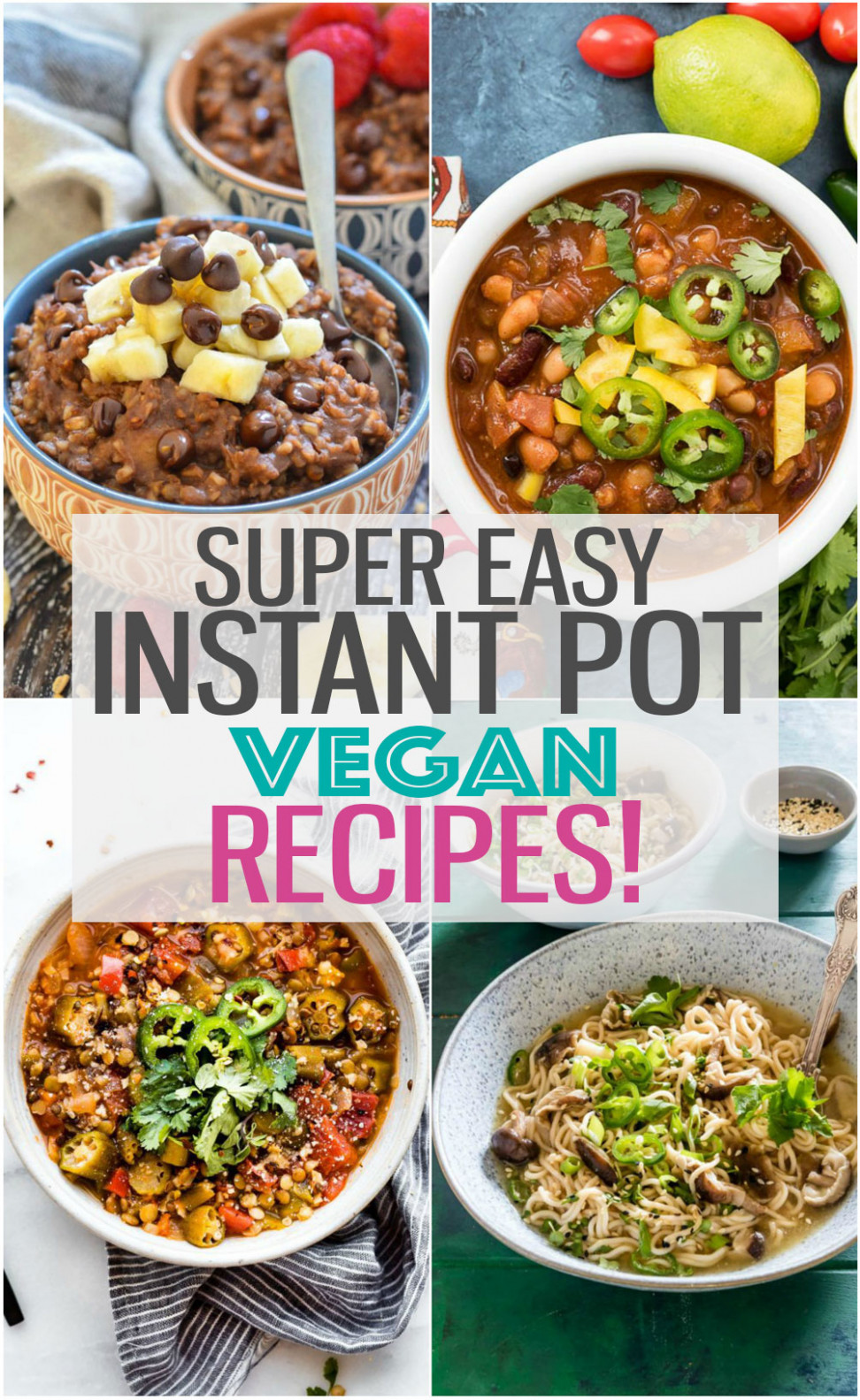 15 Ultimate Instant Pot Vegan Recipes - Eating Instantly - Instant Pot Recipes Dinner